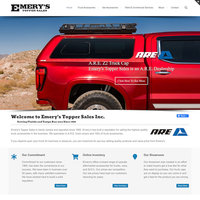 Emery's Topper Sales - A.R.E. Truck Caps & Truck Accessories since 1965