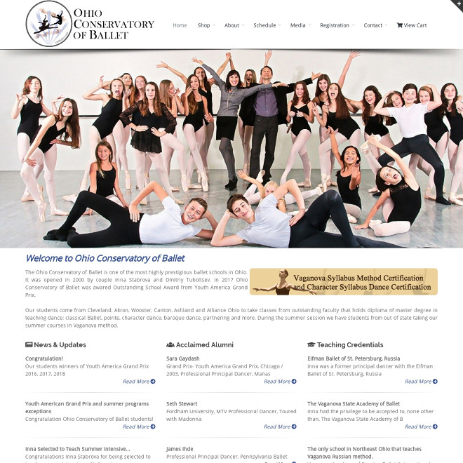 The Ohio Conservatory of Ballet is one of the most highly prestigious ballet schools in Ohio. Instructors Inna Stabrova & Dmitriy Tuboltsev