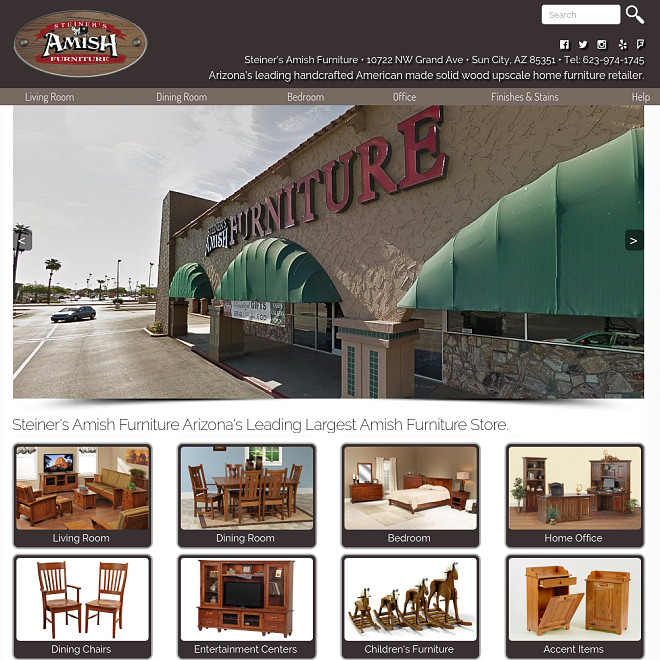 Arizona's leading handcrafted American made solid wood upscale home furniture retailer.