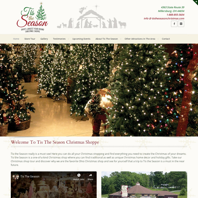 Ohio's Largest Christmas Shoppe. Tis the Season is a one-of-a kind Christmas shop where you can find traditional as well as unique Christmas home decor and holiday gifts.